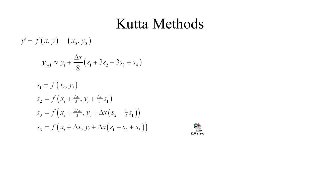 Kutta Methods