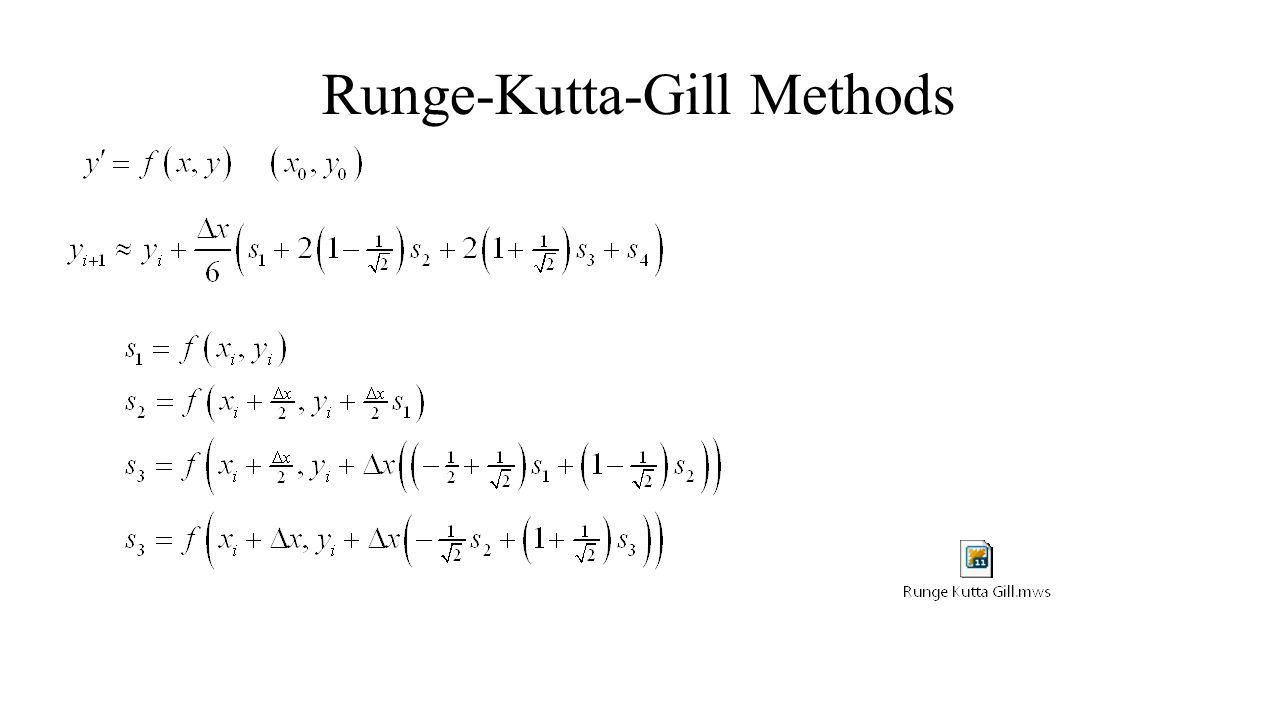 Runge-Kutta-Gill Methods