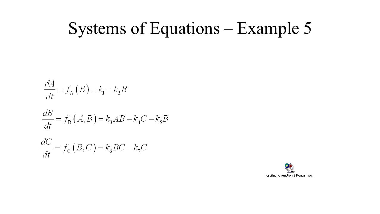 Systems of Equations – Example 5