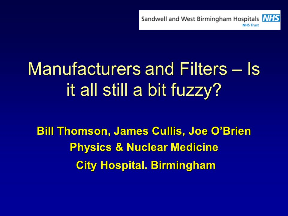 Manufacturers and Filters – Is it all still a bit fuzzy.