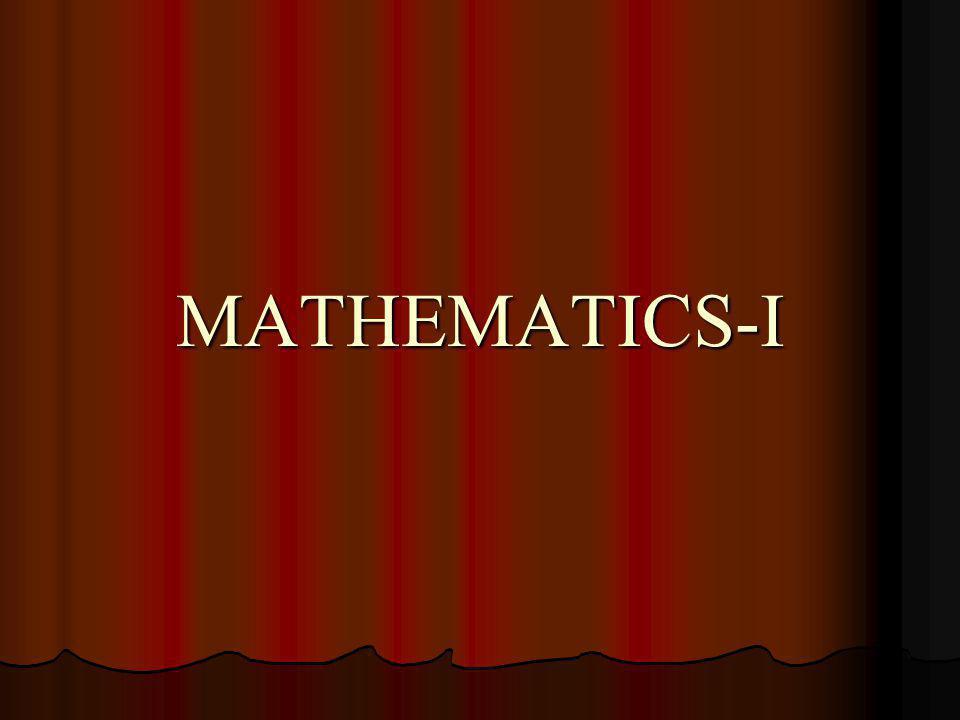 MATHEMATICS-I