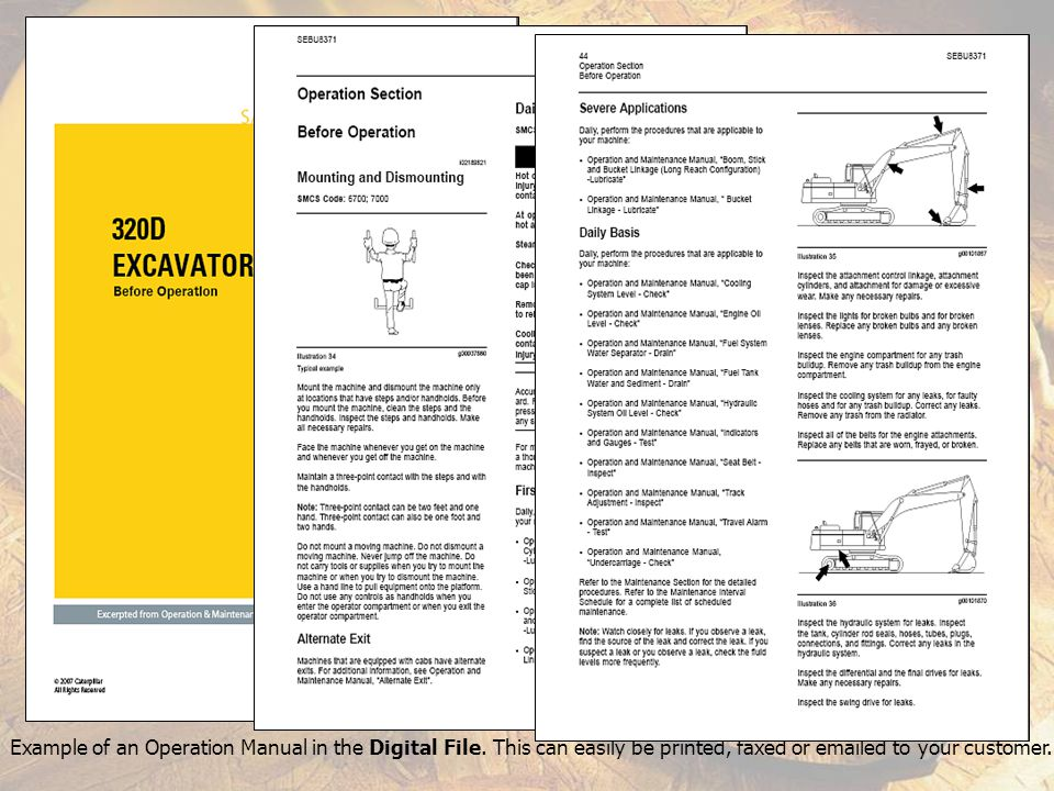 Example of a Product Brochure in the Digital File.