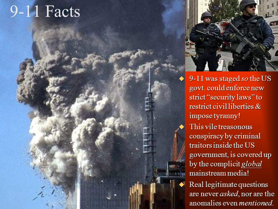 9-11 Facts Nor did concrete ever turn to fine dust just by falling down.