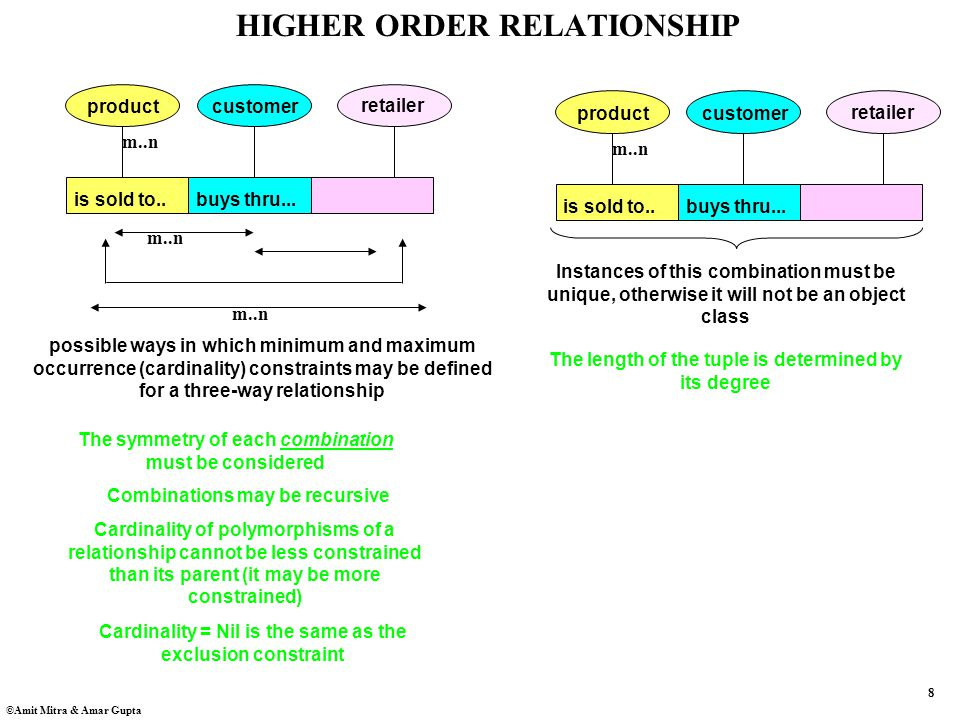 8 ©Amit Mitra & Amar Gupta HIGHER ORDER RELATIONSHIP is sold to..buys thru...