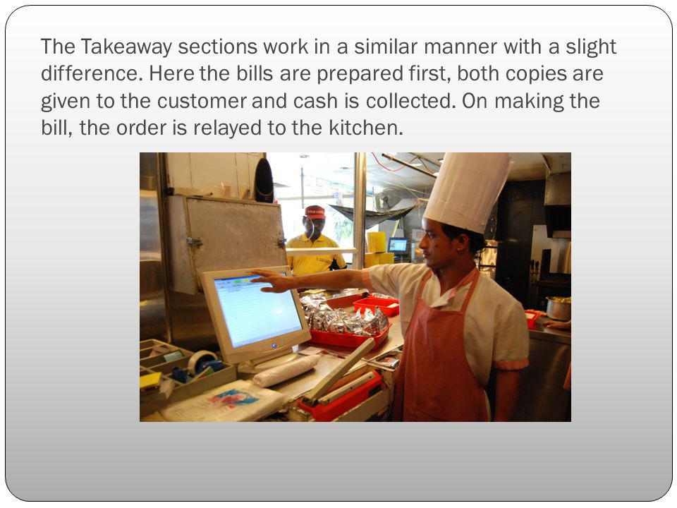 The Takeaway sections work in a similar manner with a slight difference.
