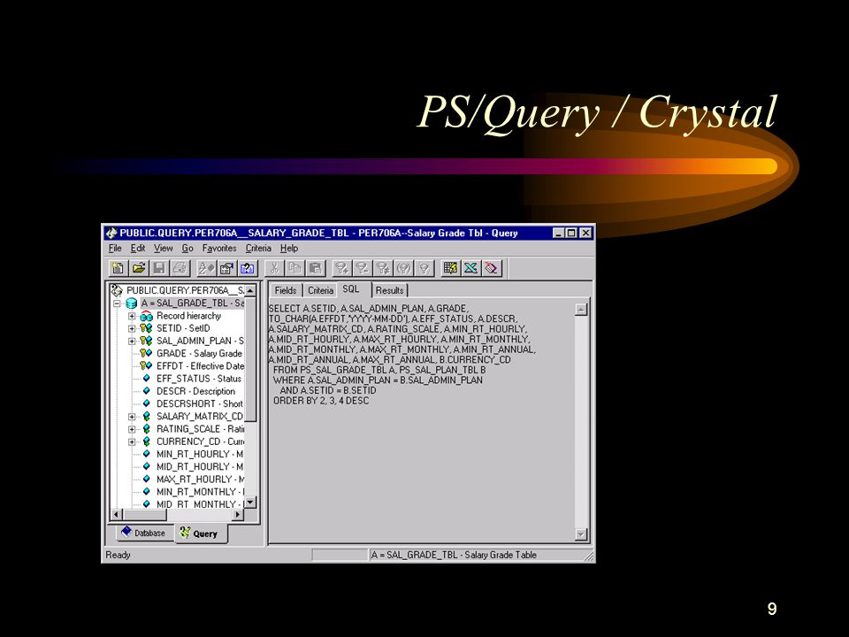 9 PS/Query / Crystal