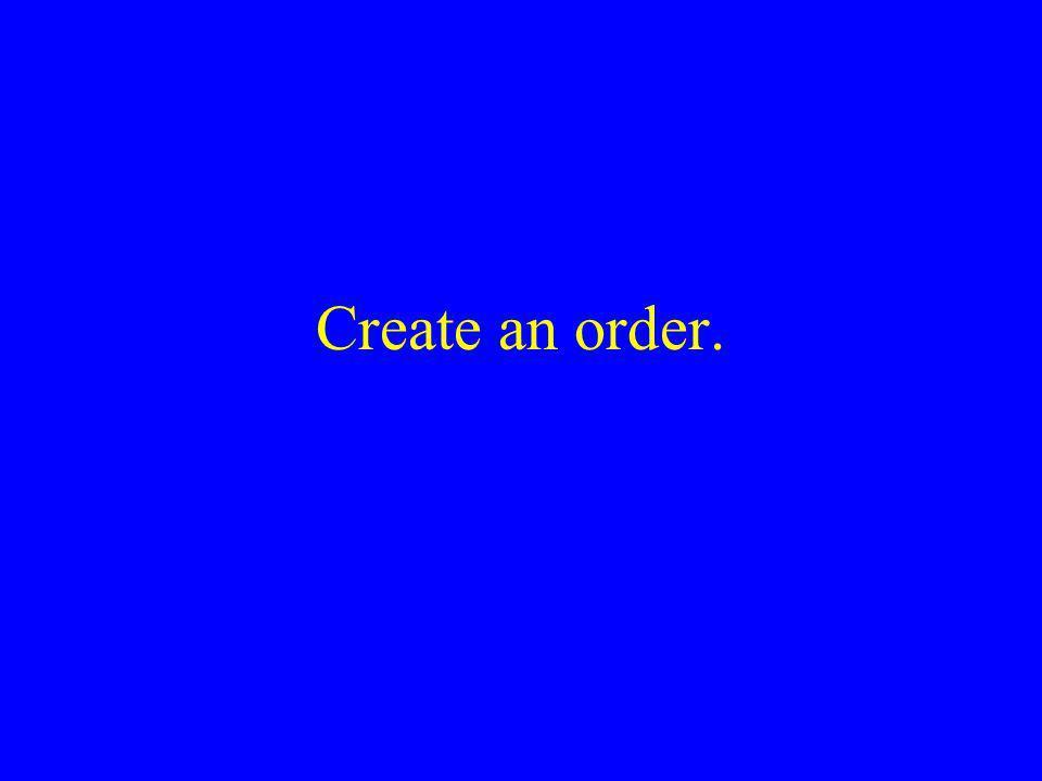 Create an order.