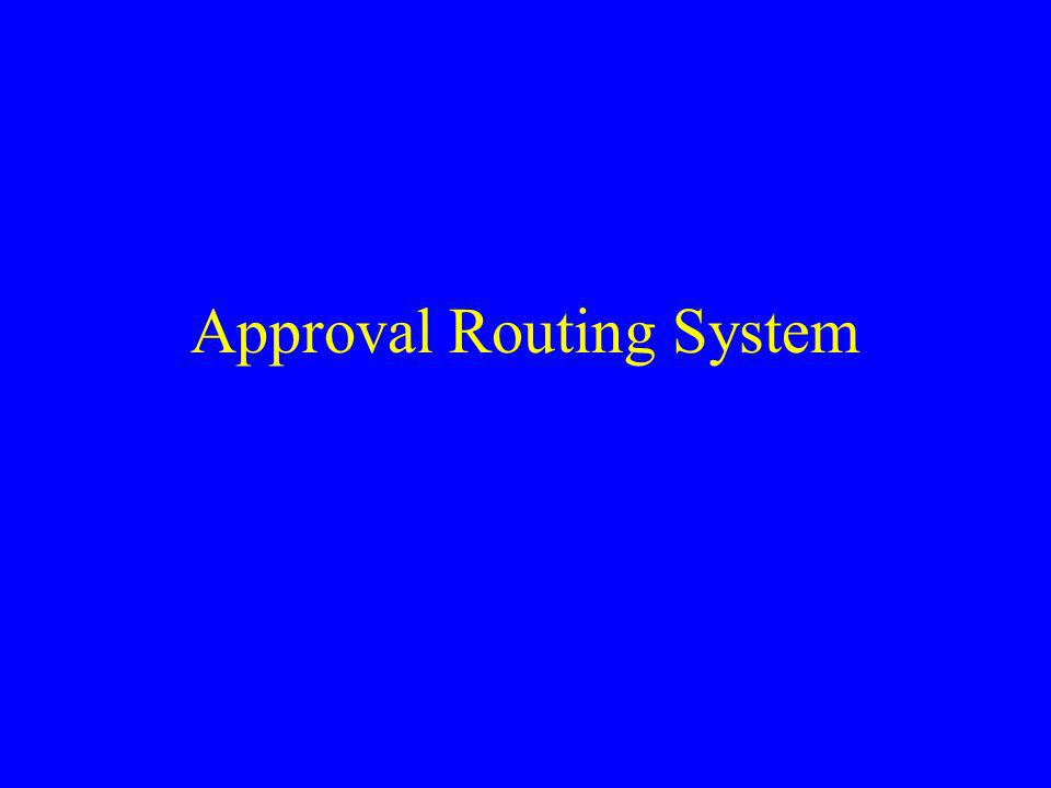 Approval Routing System
