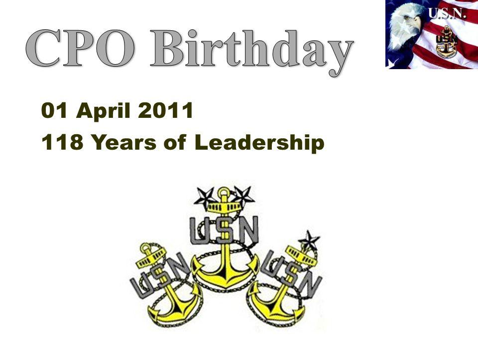 01 April 2011 118 Years of Leadership