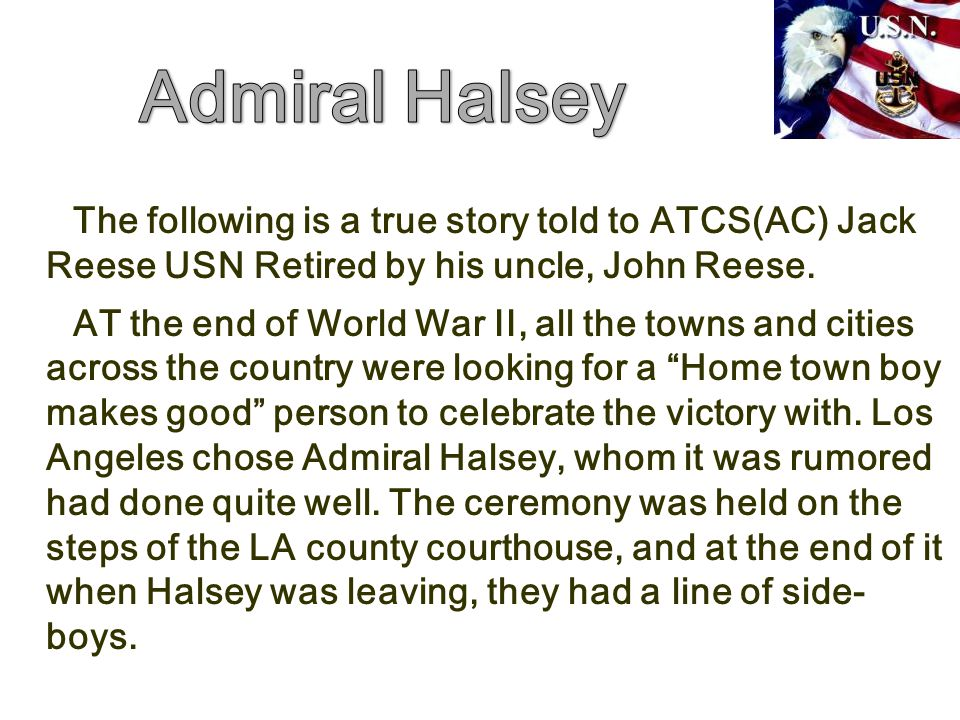The following is a true story told to ATCS(AC) Jack Reese USN Retired by his uncle, John Reese.