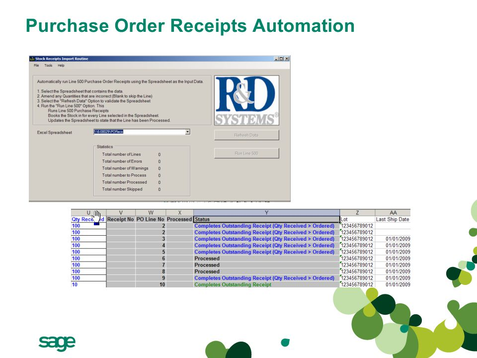 Purchase Order Receipts Automation