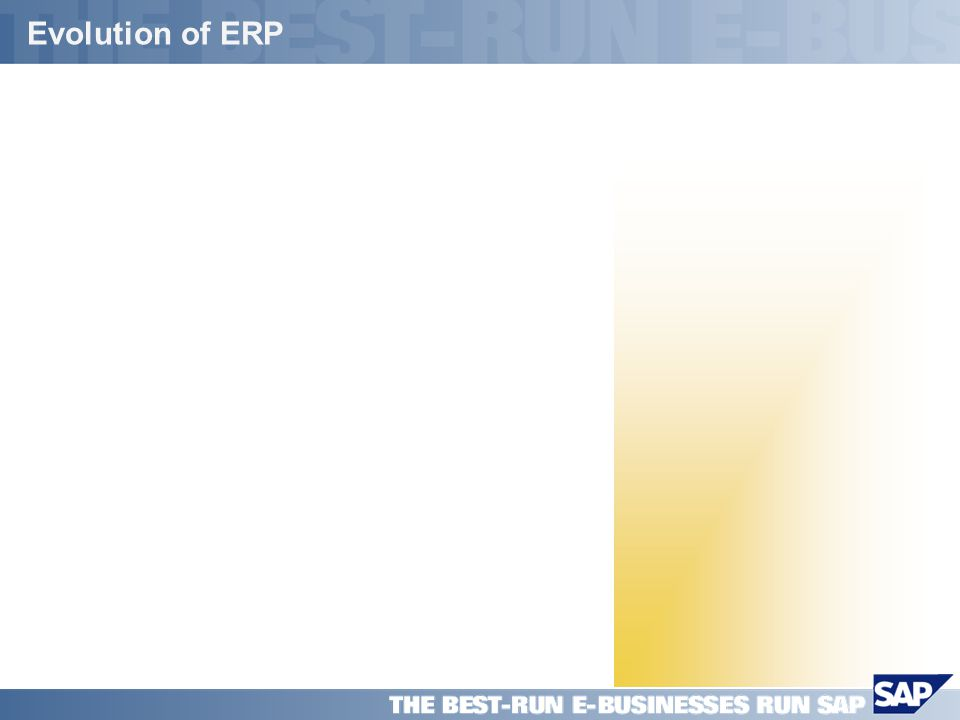 SAP PPT Title Company (Name) / 5 Evolution of ERP