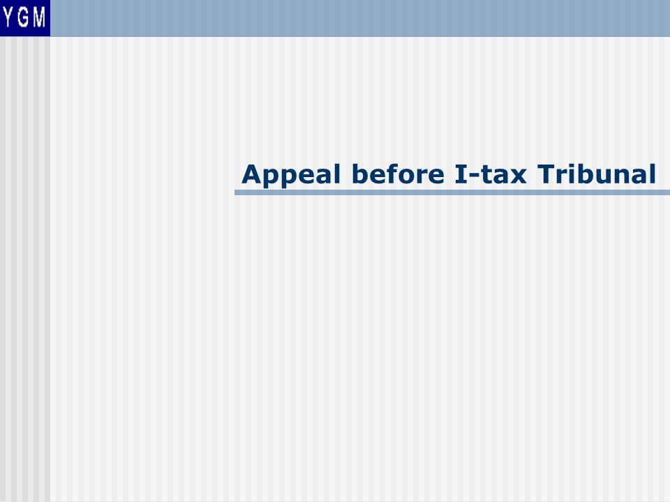 Appeal before I-tax Tribunal