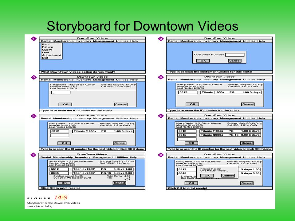 Storyboard for Downtown Videos