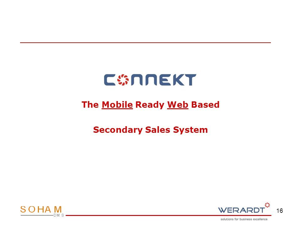 16 The Mobile Ready Web Based Secondary Sales System
