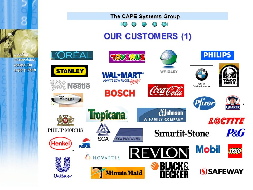 The CAPE Systems Group OUR CUSTOMERS (2)