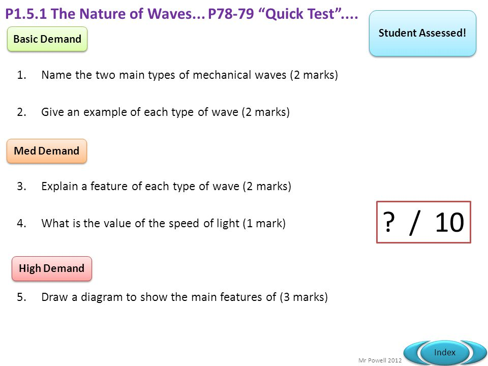 Mr Powell 2012 Index The speed of electromagnetic radiation in a vacuum is 299,792,458 m/s.