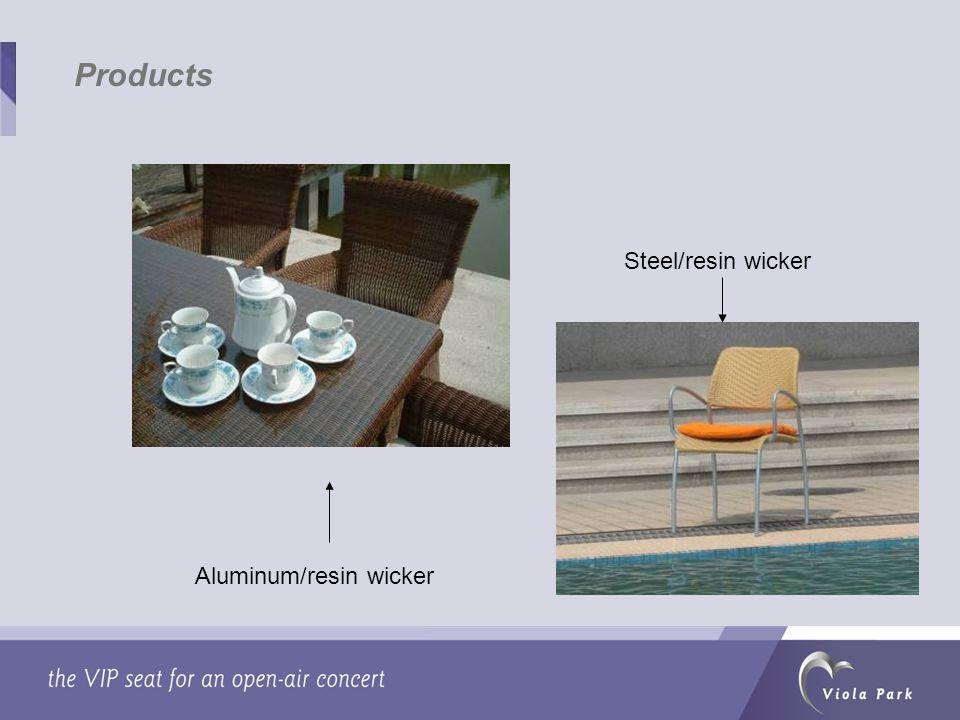 Aluminum/resin wicker Steel/resin wicker