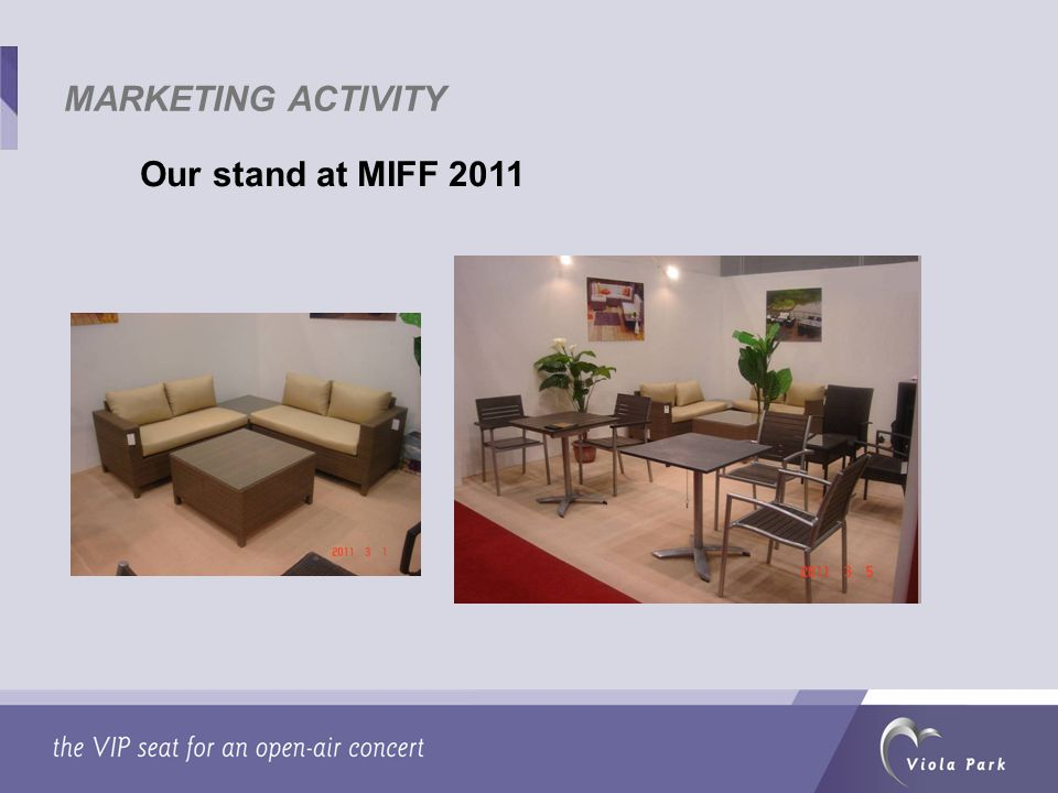 Our stand at MIFF 2011 MARKETING ACTIVITY