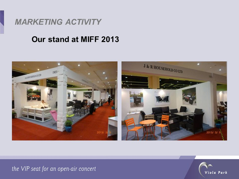 Our stand at MIFF 2013 MARKETING ACTIVITY