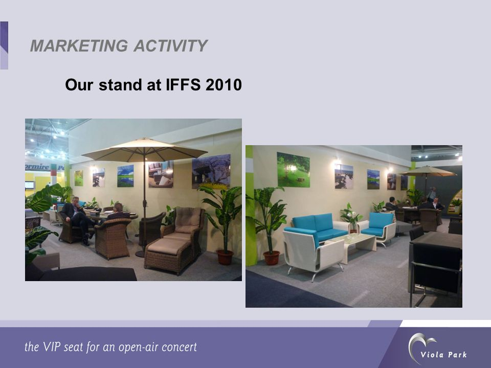 Our stand at IFFS 2010 MARKETING ACTIVITY