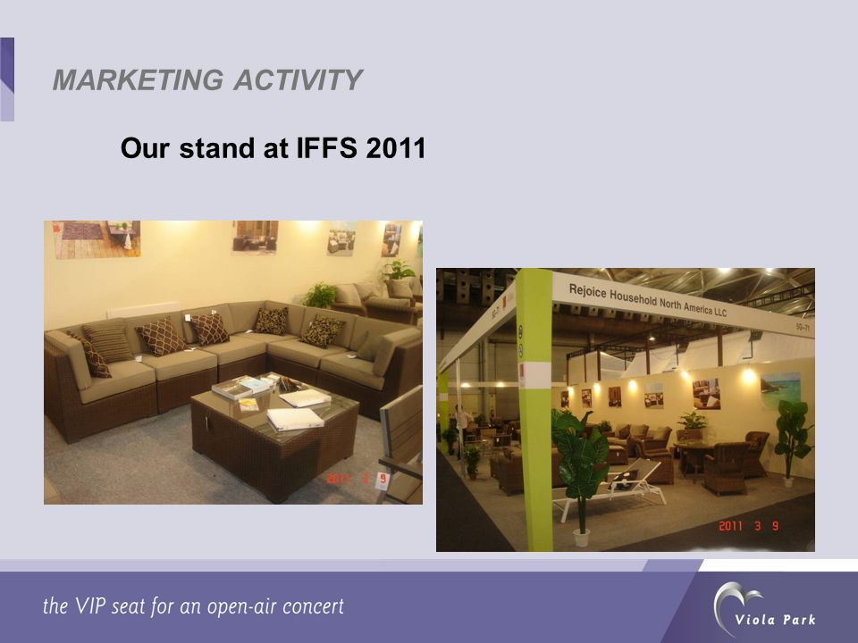 Our stand at IFFS 2011 MARKETING ACTIVITY