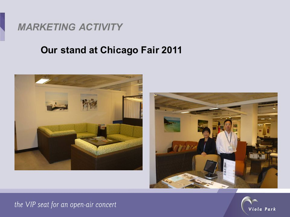Our stand at Chicago Fair 2011 MARKETING ACTIVITY