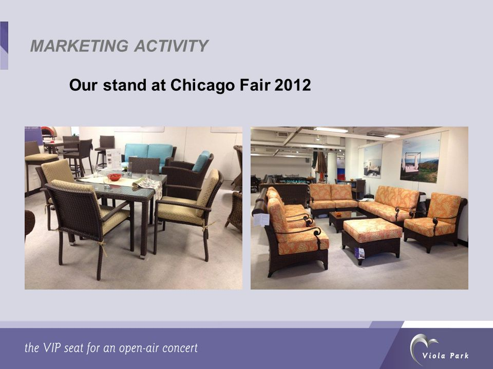 Our stand at Chicago Fair 2012 MARKETING ACTIVITY