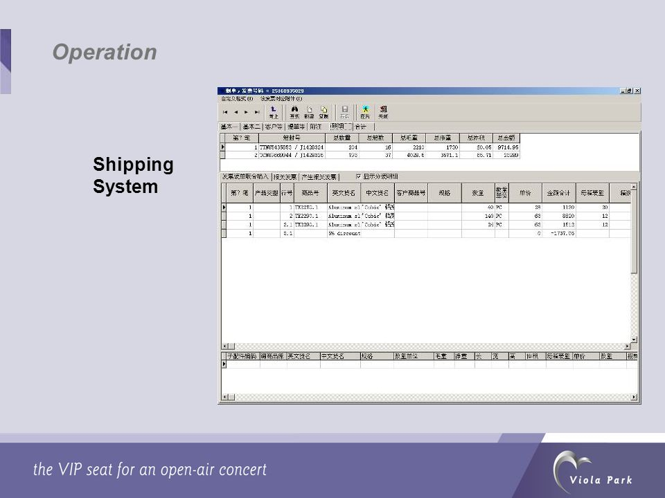 Shipping System Operation