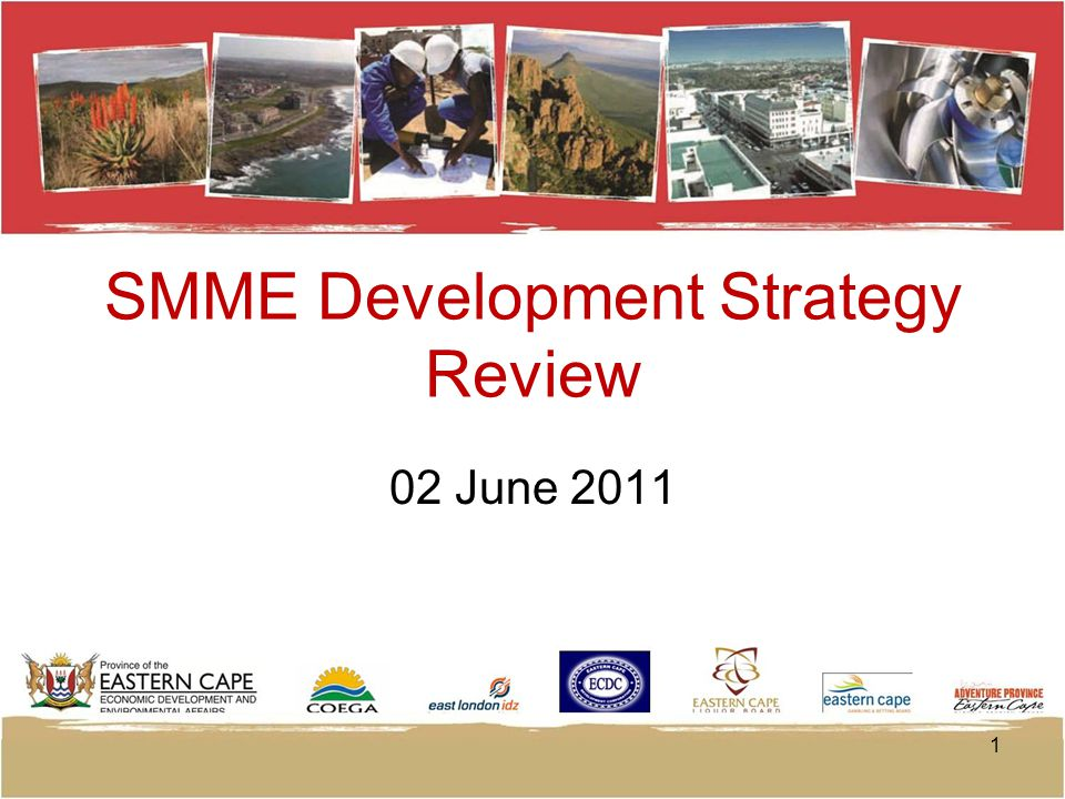 SMME Development Strategy Review 02 June 2011 1