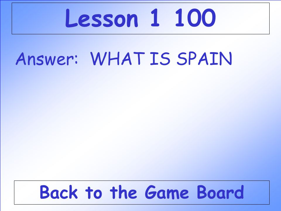 Question: This country started colonies in the Americas first. Check Your Answer Lesson 1 100