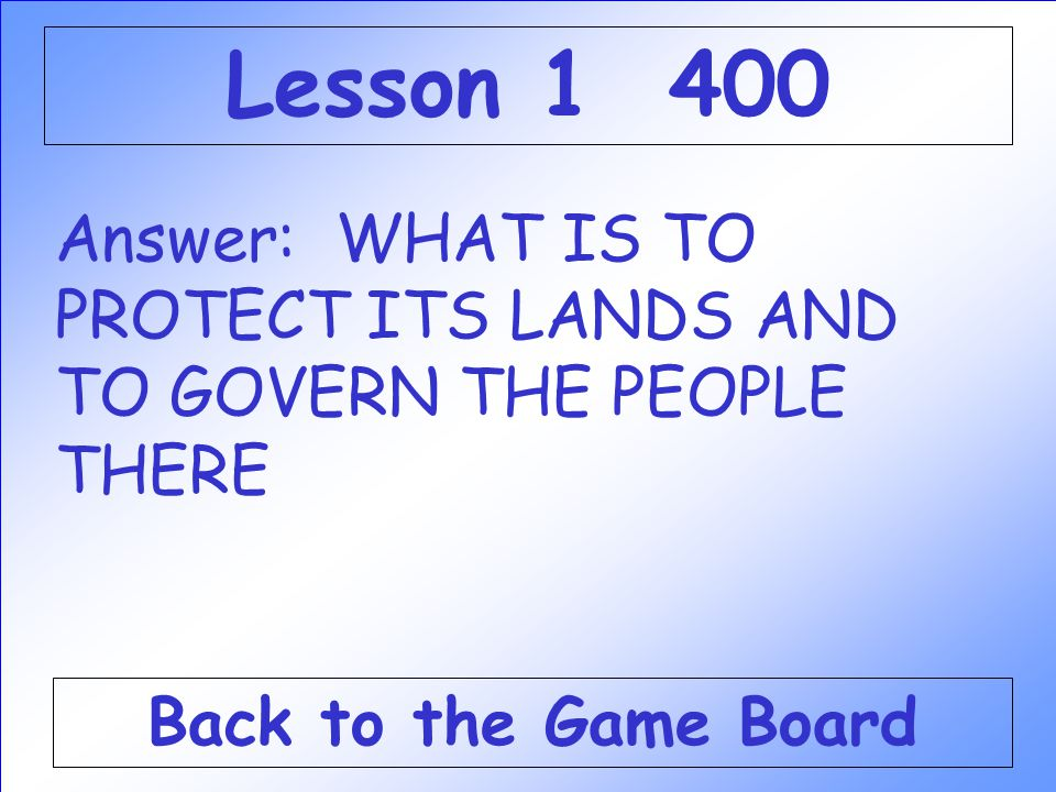 Question: Spain set up colonies in North America for this reason. Check Your Answer Lesson 1 400