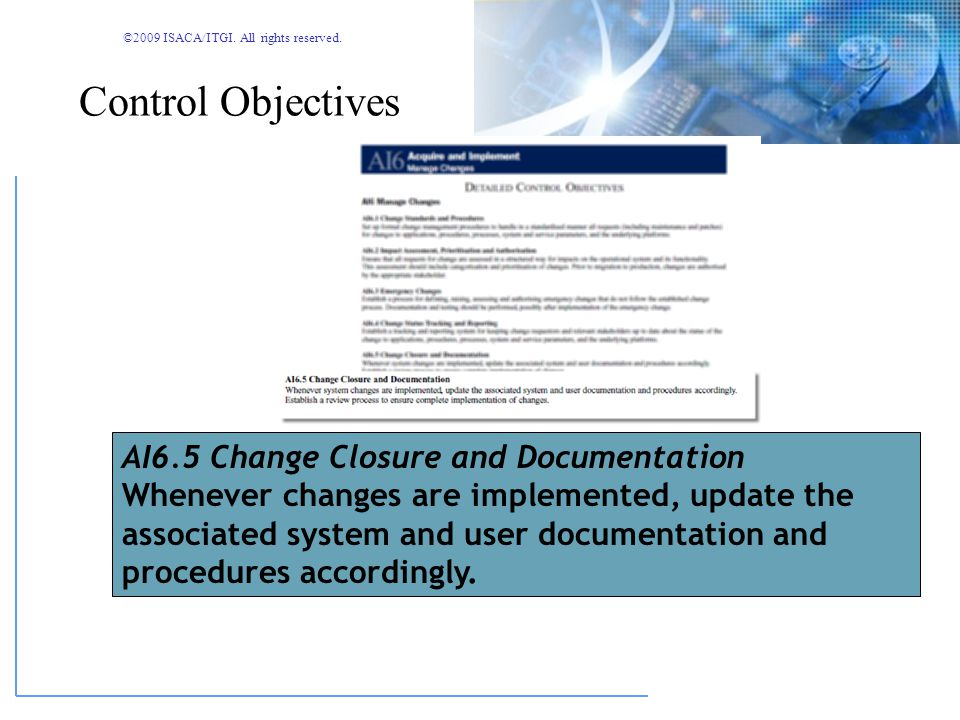 ©2009 ISACA/ITGI. All rights reserved. IT Governance