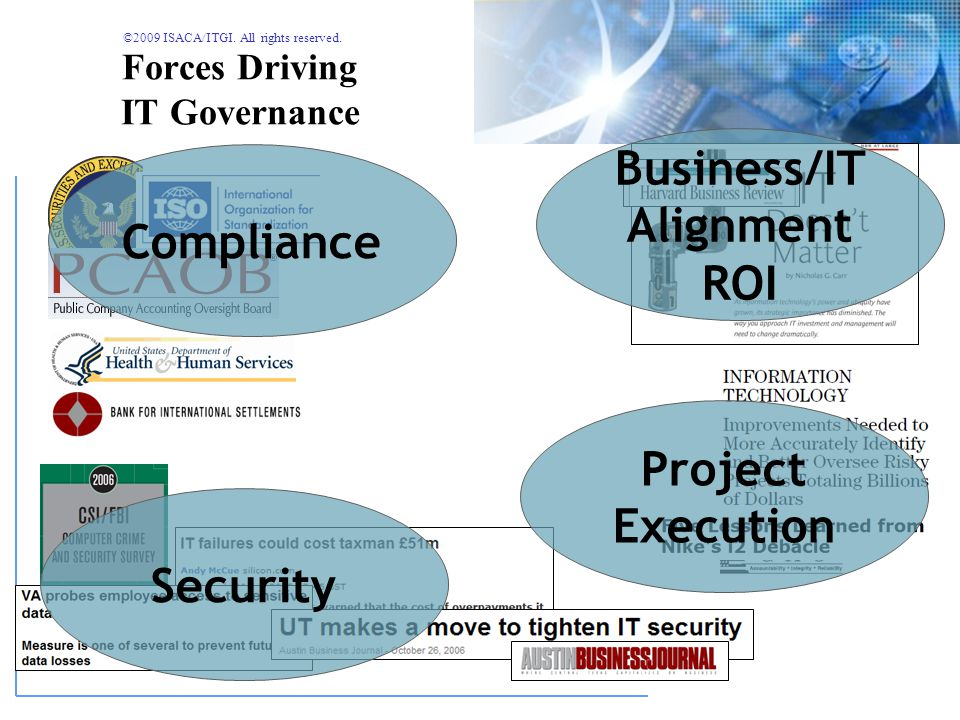 ©2009 ISACA/ITGI. All rights reserved. The Governance Environment