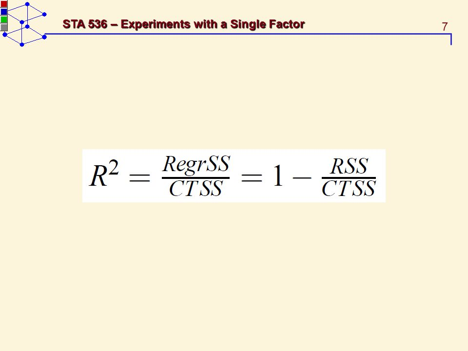 7 STA 536 – Experiments with a Single Factor