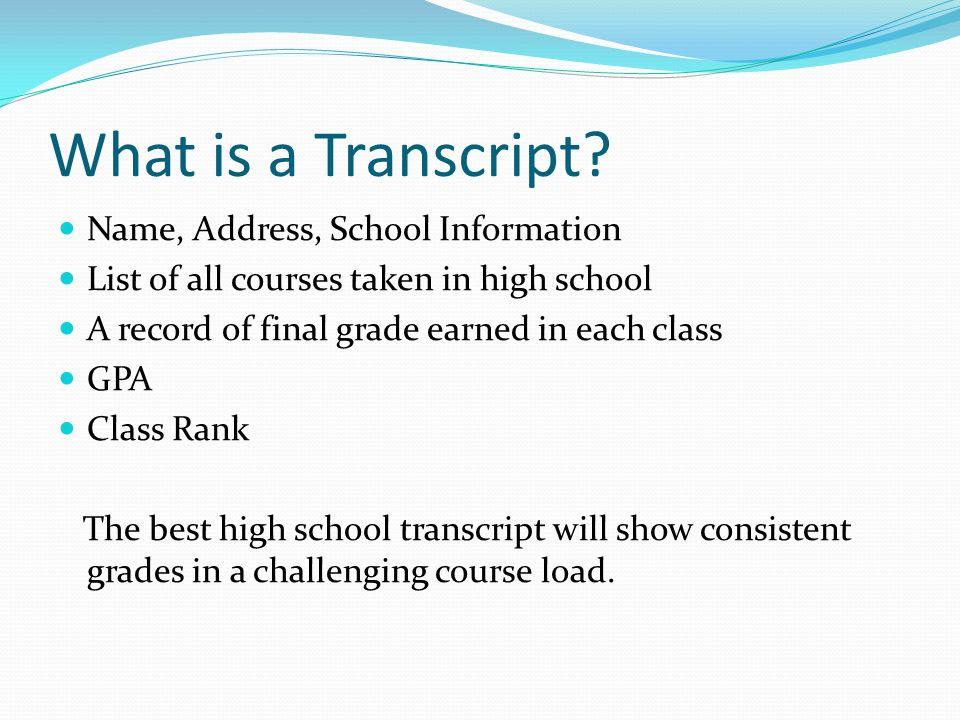 What is a Transcript.