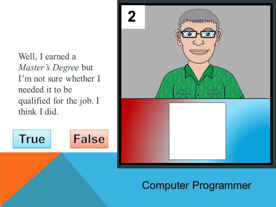 You must have taken a lot of classes to learn how to write computer programs.