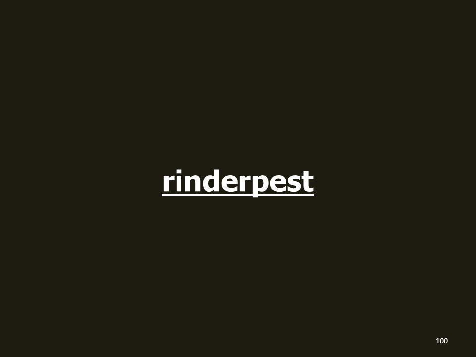 rinderpest 100