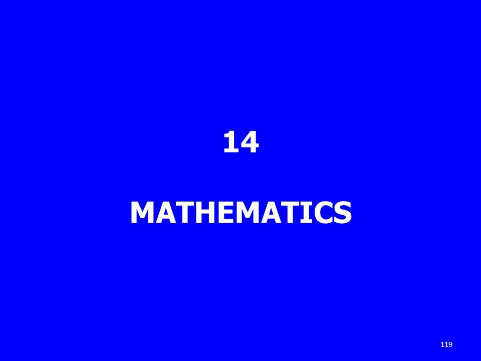 14 MATHEMATICS 119