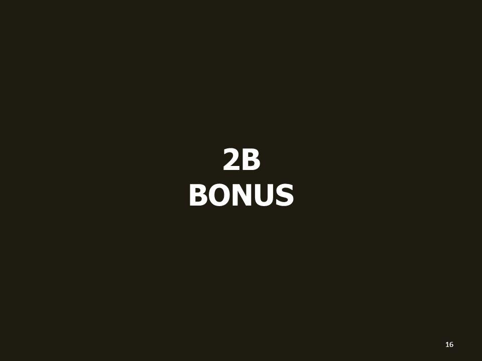 2B BONUS 16