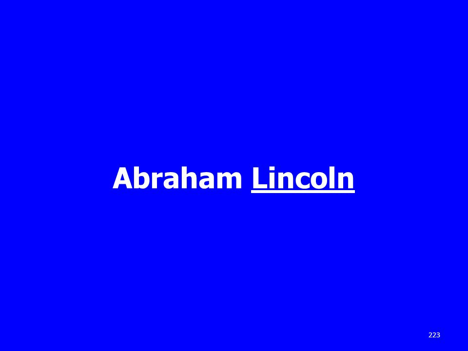 Abraham Lincoln 223