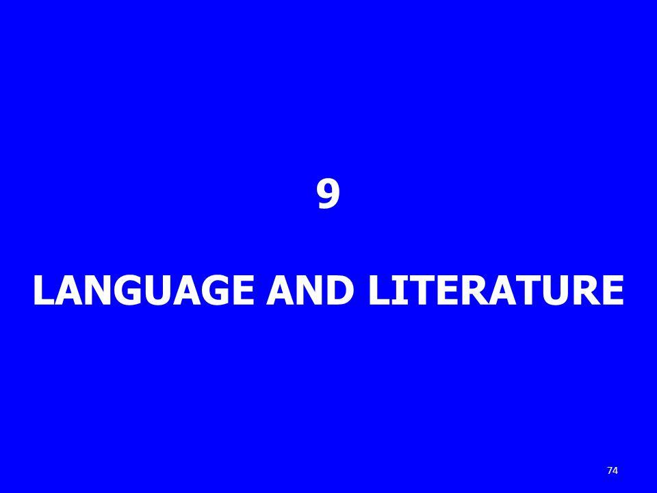 9 LANGUAGE AND LITERATURE 74