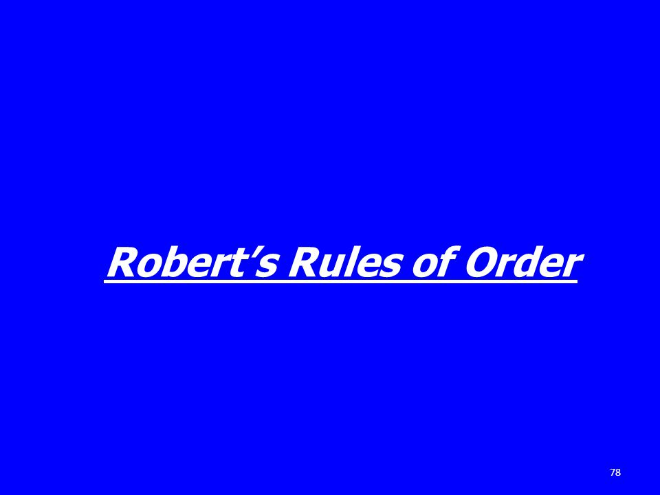 78 Roberts Rules of Order