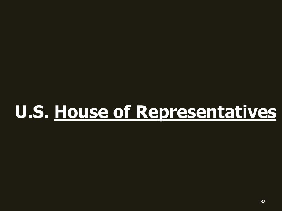 82 U.S. House of Representatives