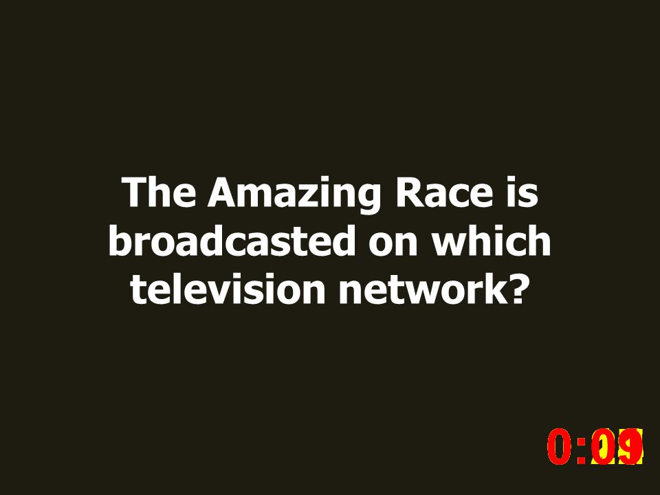 The Amazing Race is broadcasted on which television network.