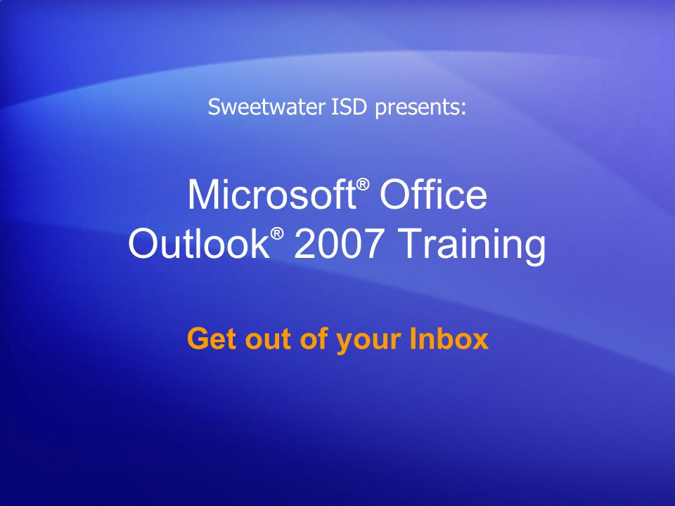 Get out of your Inbox with Outlook 2007 Test 4, question 2: Answer The message is moved to the folder.