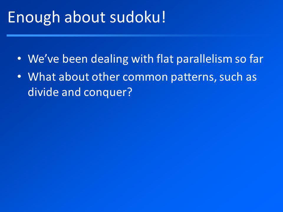 Enough about sudoku.