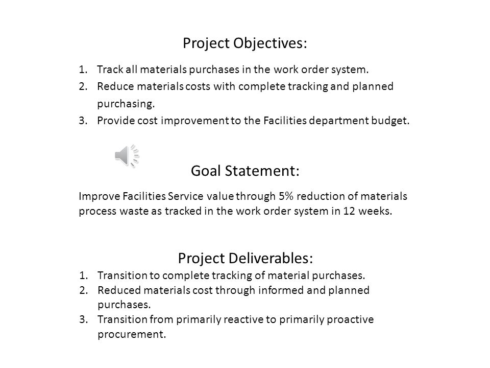 Problem Statement The facilities work order system is great at capturing work requests and processing them into informative work orders and tracking t