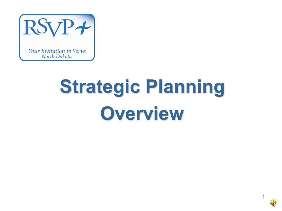 1 Strategic Planning Overview
