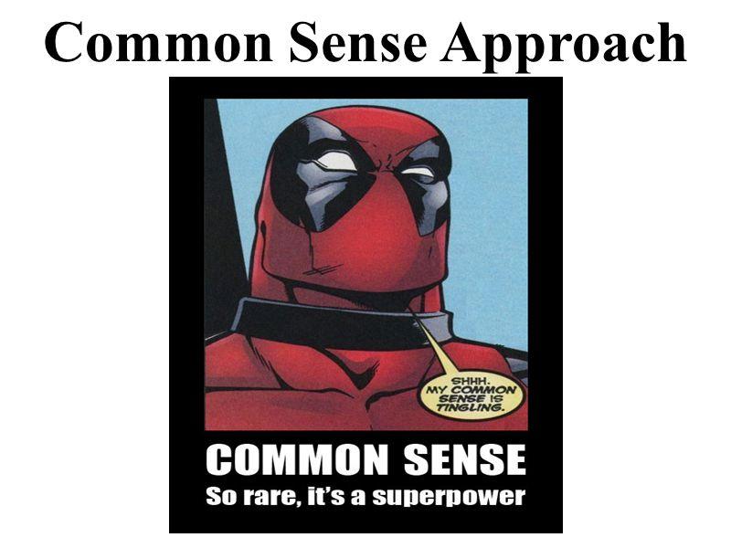 Common Sense Approach
